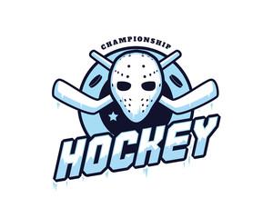 Modern Professional Isolated Sports Badge Logo - Ice Hockey Championship