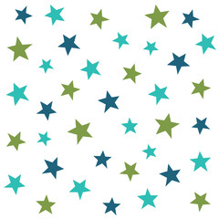 Abstract stars, seamless vector pattern