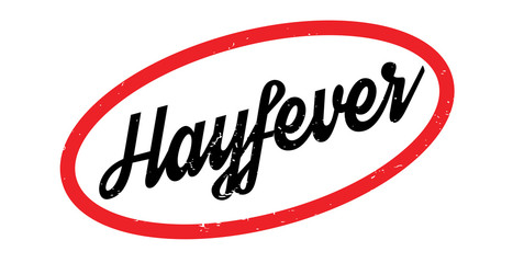 Hayfever rubber stamp. Grunge design with dust scratches. Effects can be easily removed for a clean, crisp look. Color is easily changed.