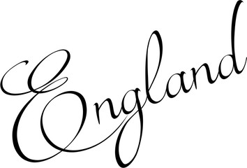England Text sign illutration