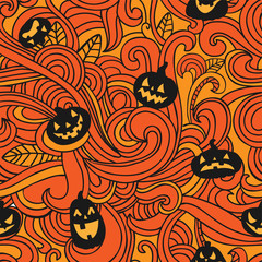 Halloween holiday, seamless background
