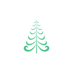 Christmas tree card .