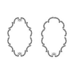 Frame oval set