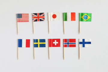 Colorful Cocktail National Flags