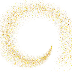 Stream of Golden Particles