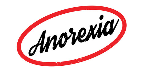 Anorexia rubber stamp. Grunge design with dust scratches. Effects can be easily removed for a clean, crisp look. Color is easily changed.