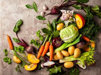 Papiers peints Legume Fresh raw vegetable ingredients