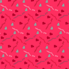 Valentine seamless pattern with hearts. Perfect for wallpaper, web page background, textile, greeting cards and wedding invitations