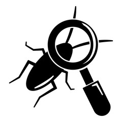 Search insect icon, simple black style