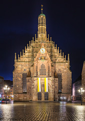 Keuken foto achterwand Wenen Nuremberg Germany Church Frauenkirche