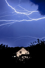 Thunderstorm over the house