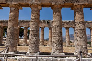 view od Temple Greek of Segesta