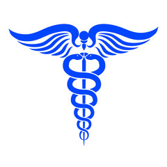 Caduceus medical symbol – stock vector