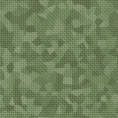 Green camouflage pattern, seamless background