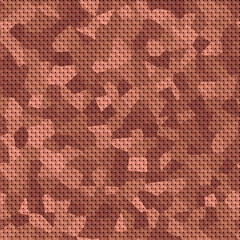 Brown camouflage pattern, seamless background