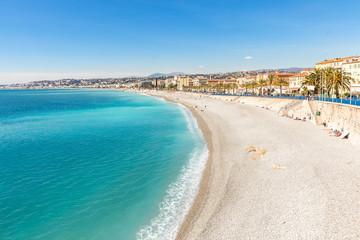 France Nice Mediterranean beach Wall mural