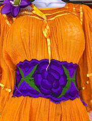 Orange Mexican Fiesta Dress