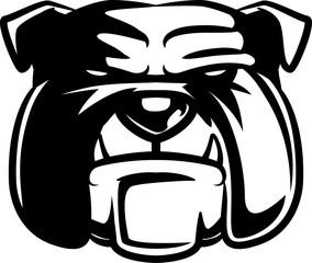 Isolated Bulldog head logo illustration