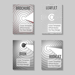 Book Title Page Template. Business Report Or Booklet Cover. Brochure Layout. Poster, Presentation Sheet. A4 Size. Leaflet, Flyer Mockup. Vector. Letter C.