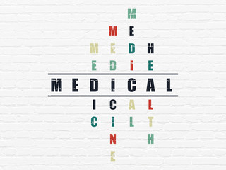 Health concept: Medical in Crossword Puzzle