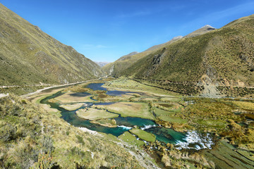 Tuinposter Scandinavië Clear waters of Cañete river near Vilca villag, Peru