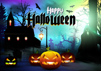 Halloween Background. Happy Halloween card.