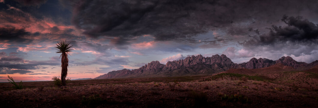 Organ Mountains Panorama, Purplish Clouds