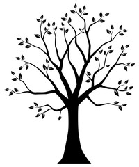 Tree silhouette. Vector illustration