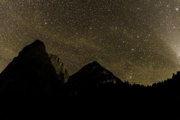 Gosau Lake Austria nightsky