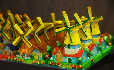 Traditional Dutch souvenirs for tourists.