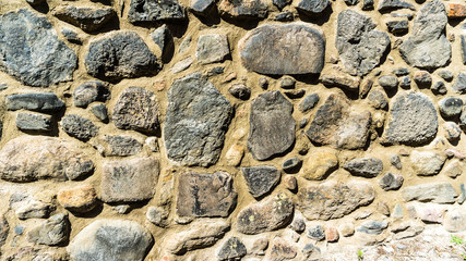 wall of field stones