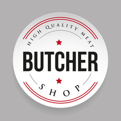 Butcher shop vintage stamp