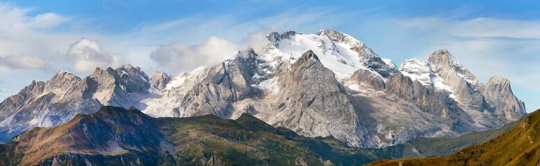 Foto auf AluDibond Gebirge View of Marmolada, Dolomites mountains, Italy