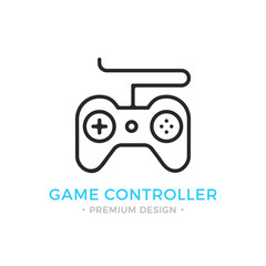 Game controller icon. Outline gamepad logo. Modern vector thin line icon