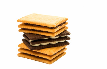 Biscuits double snack isolated