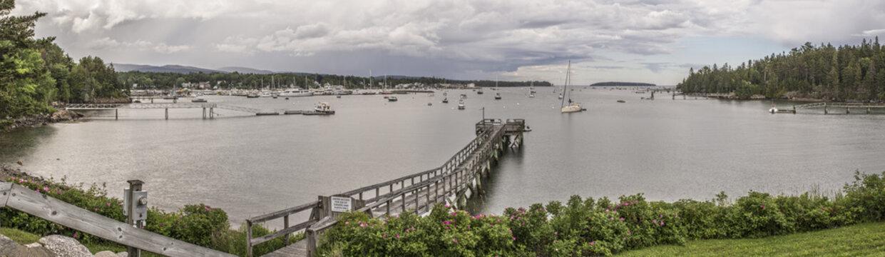 Southwest Harbor, Maine Panoramic