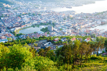 Bergen city from above