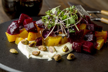 Golden and Red Beet Salad