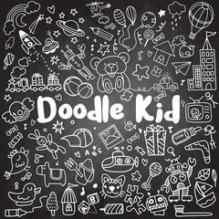 hand drawn kids doodle set,Doodle style