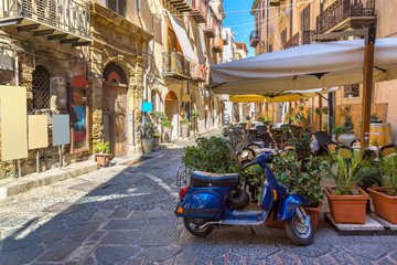 Narrow street in Cefalu