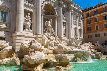 Fototapete - Fountain di Trevi in Rome