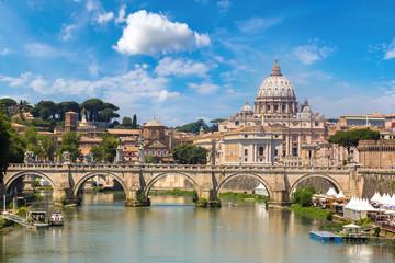Poster Rome San Pietro basilica in Rome, Italy