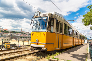 Retro tram in Budapest