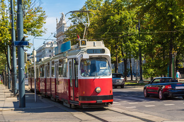 Aluminium Prints Vienna Electric tram in Vienna, Austria