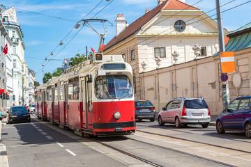 Electric tram in Vienna, Austria