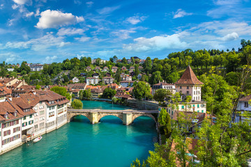 Wall Mural - Panoramic view of Bern