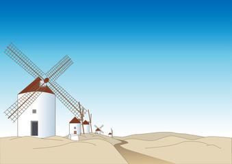 スペイン・ラマンチャ風車