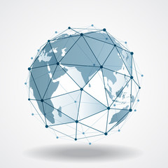 Future technology concept of global business