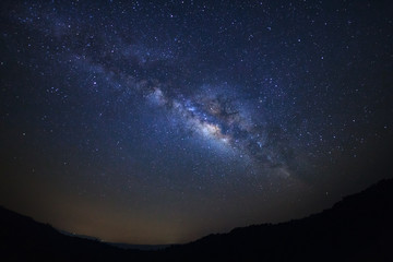 clearly milky way galaxy with stars and space dust in the universe at phitsanulok in thailand.