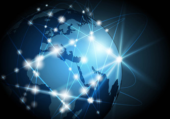 Global network background Vector